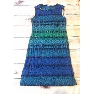 Isaac Mizrahi Live blue ombré dress large